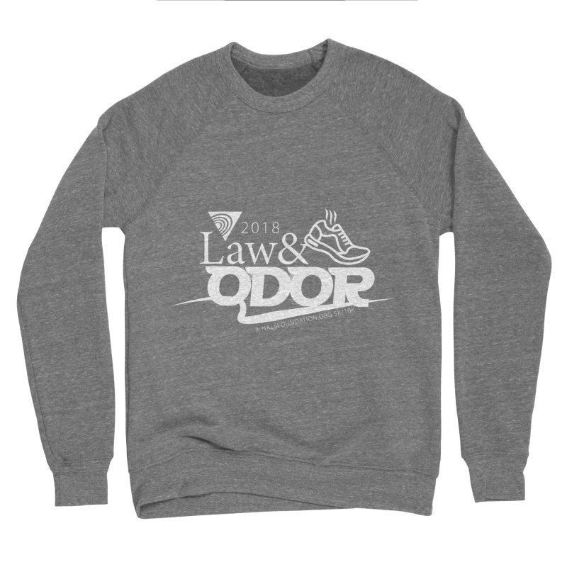 Law and Odor - White Logo Men's Sponge Fleece Sweatshirt by NALS.org Apparel Shop