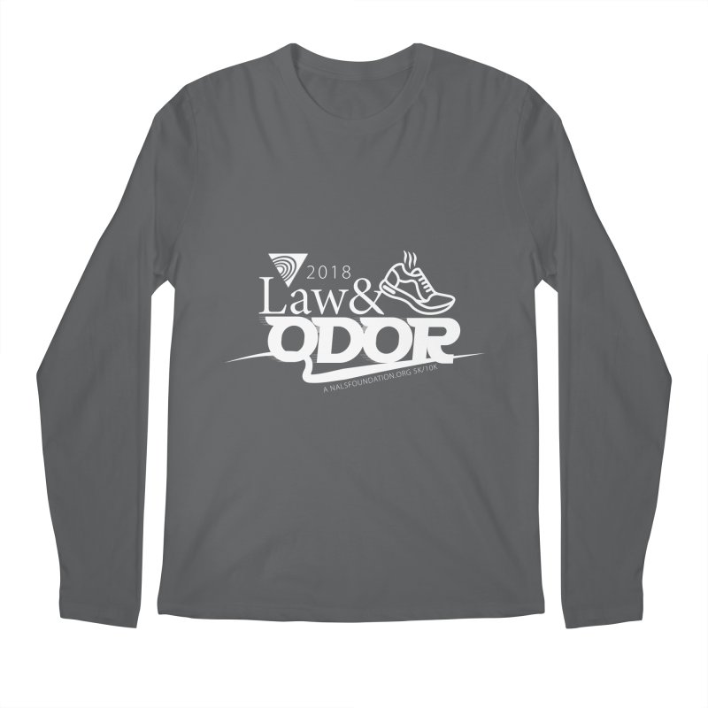 Law and Odor - White Logo Men's Longsleeve T-Shirt by NALS Apparel & Accessories
