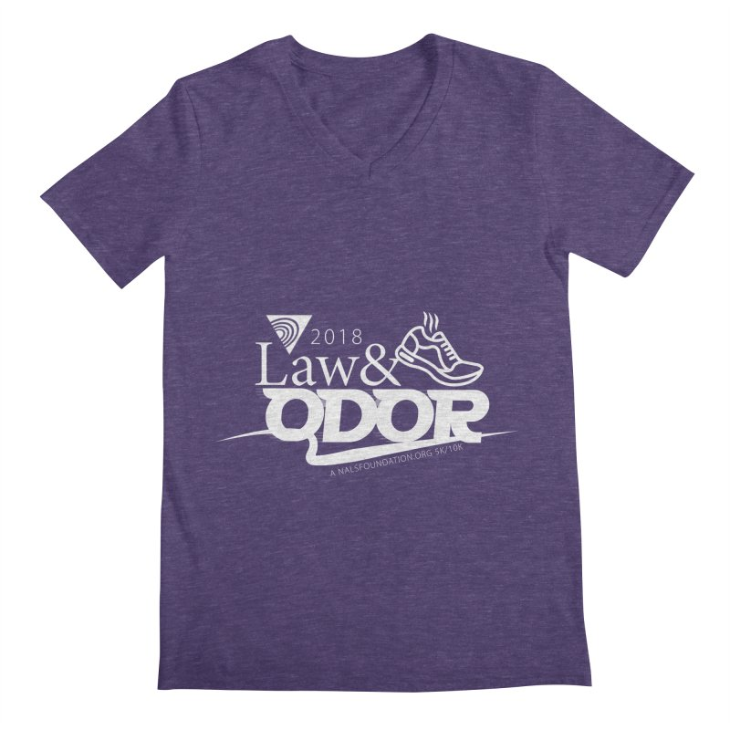 Law and Odor - White Logo Men's V-Neck by NALS Apparel & Accessories