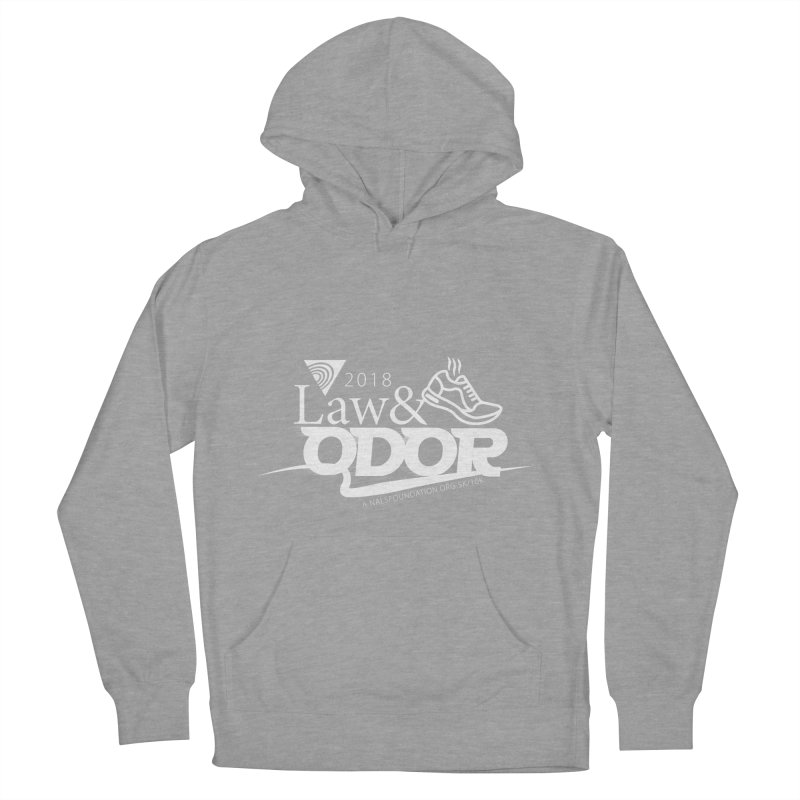 Law and Odor - White Logo Women's French Terry Pullover Hoody by NALS Apparel & Accessories