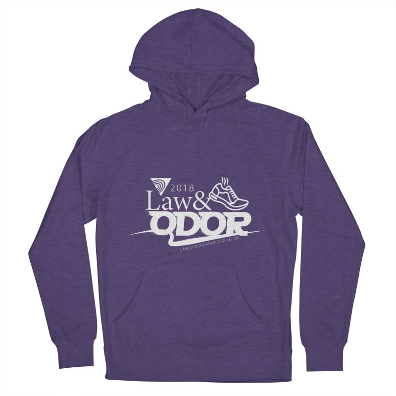 Law and Odor - White Logo Men's French Terry Pullover Hoody by NALS.org Apparel Shop