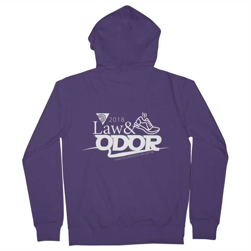 Law and Odor - White Logo Women's French Terry Zip-Up Hoody by NALS.org Apparel Shop