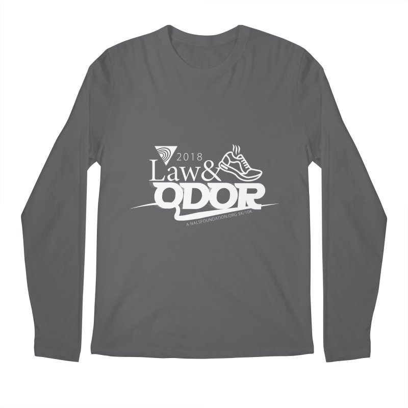 Law and Odor - White Logo Men's Regular Longsleeve T-Shirt by NALS Apparel & Accessories