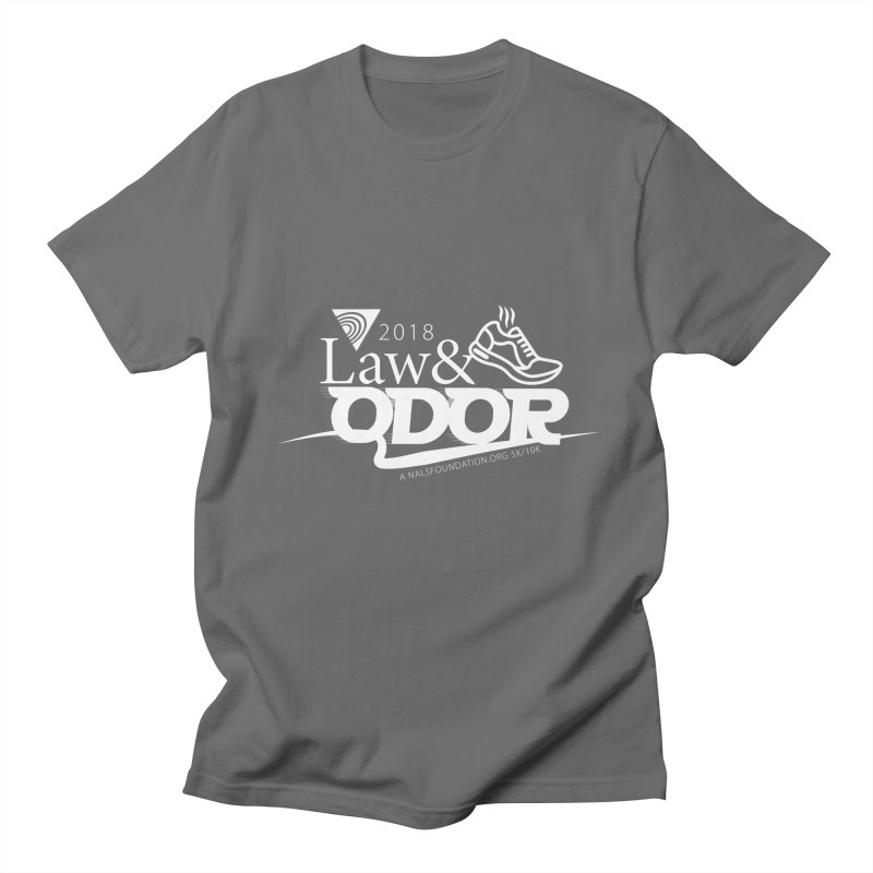 Law and Odor - White Logo Men's Regular T-Shirt by NALS.org Apparel Shop