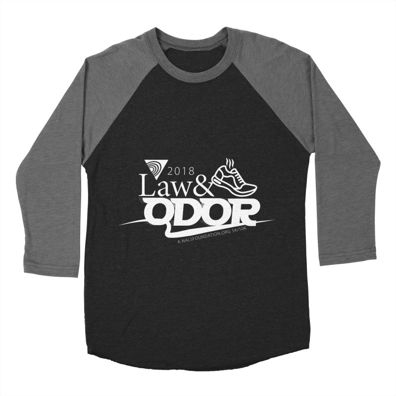 Law and Odor - White Logo Men's Baseball Triblend Longsleeve T-Shirt by NALS Apparel & Accessories