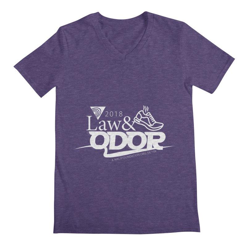 Law and Odor - White Logo Men's Regular V-Neck by NALS.org Apparel Shop