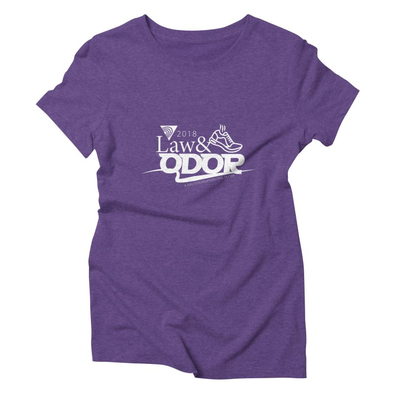 Law and Odor - White Logo Women's Triblend T-Shirt by NALS Apparel & Accessories