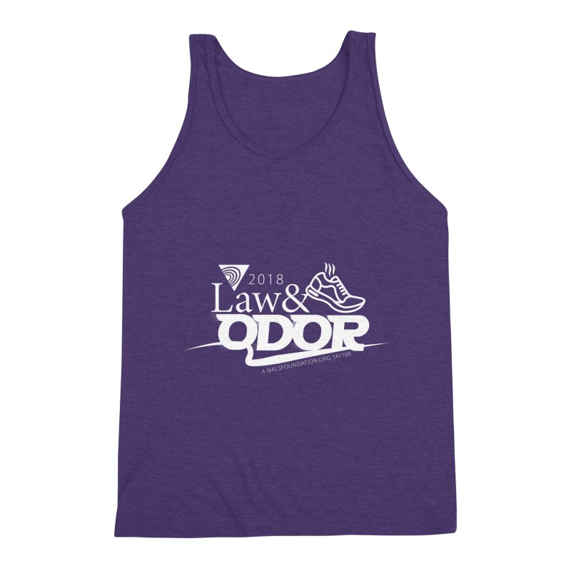 Law and Odor - White Logo Men's Triblend Tank by NALS Apparel & Accessories