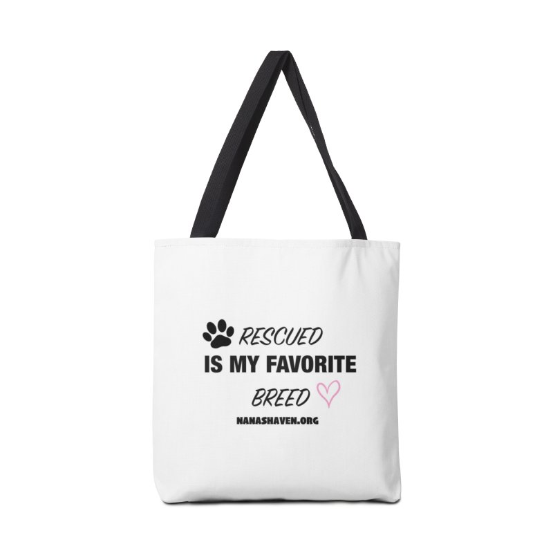 NANA'S RESCUED PAW & HEART Accessories Bag by NANASHAVEN Shop