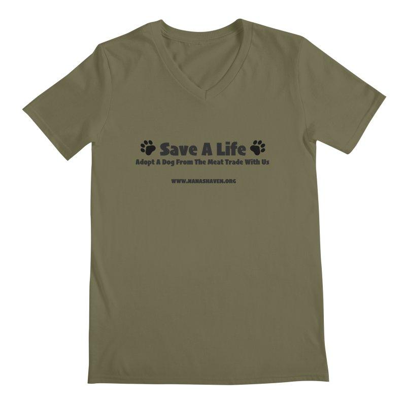 NH SAVE A LIFE TEE Men's V-Neck by NANASHAVEN Shop