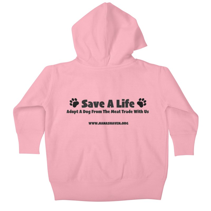 NH SAVE A LIFE TEE Kids Baby Zip-Up Hoody by NANASHAVEN Shop