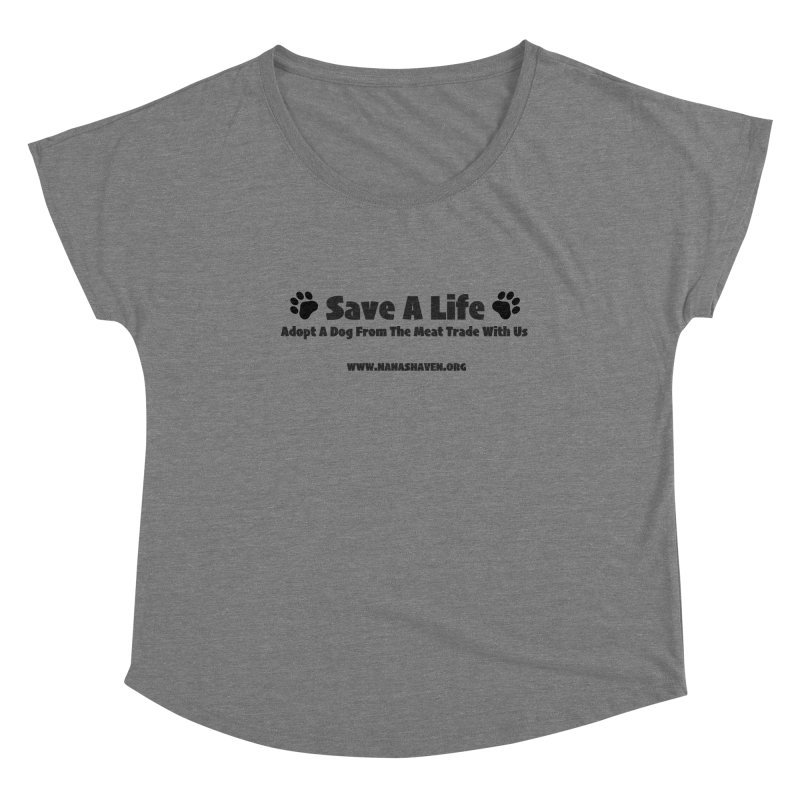 NH SAVE A LIFE TEE Women's Scoop Neck by NANASHAVEN Shop