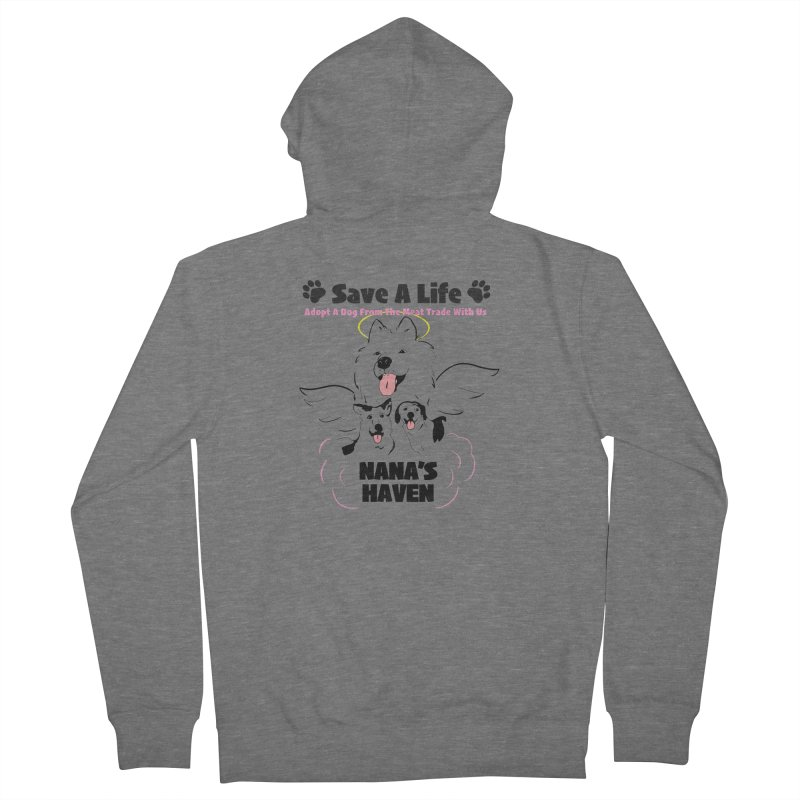NH SAVE A LIFE AND LOGO Women's Zip-Up Hoody by NANASHAVEN Shop