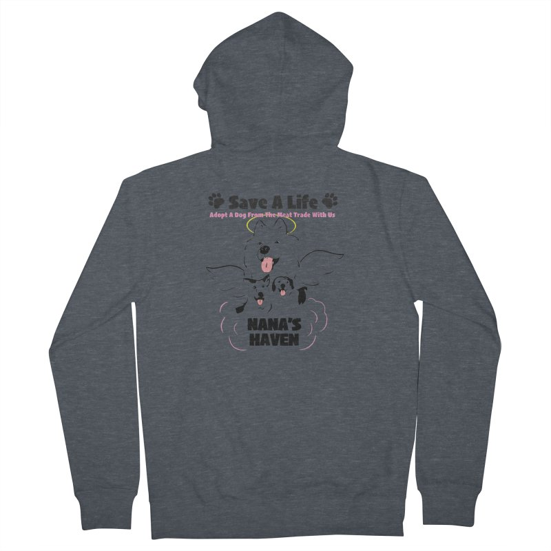 NH SAVE A LIFE AND LOGO Men's Zip-Up Hoody by NANASHAVEN Shop