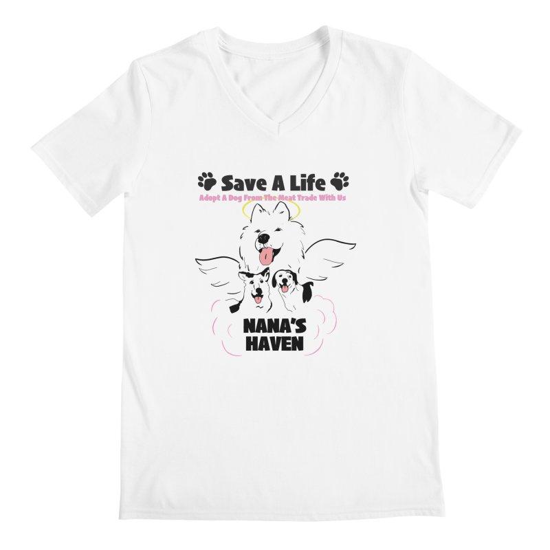 NH SAVE A LIFE AND LOGO Men's V-Neck by NANASHAVEN Shop