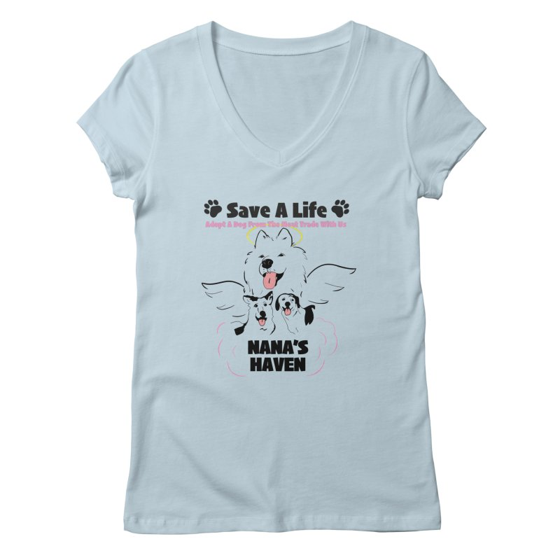 NH SAVE A LIFE AND LOGO Women's V-Neck by NANASHAVEN Shop