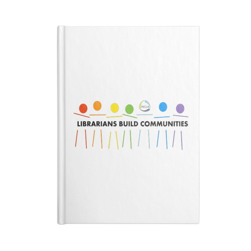 Rainbow Community (Black Text / Light Background) Accessories Notebook by North Carolina Library Association Summer Shop