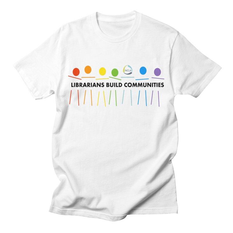 Rainbow Community (Black Text / Light Background) Men's T-Shirt by North Carolina Library Association Summer Shop
