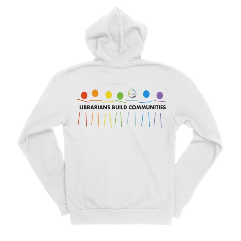 Rainbow Community (Black Text / Light Background) Men's Zip-Up Hoody by North Carolina Library Association Summer Shop