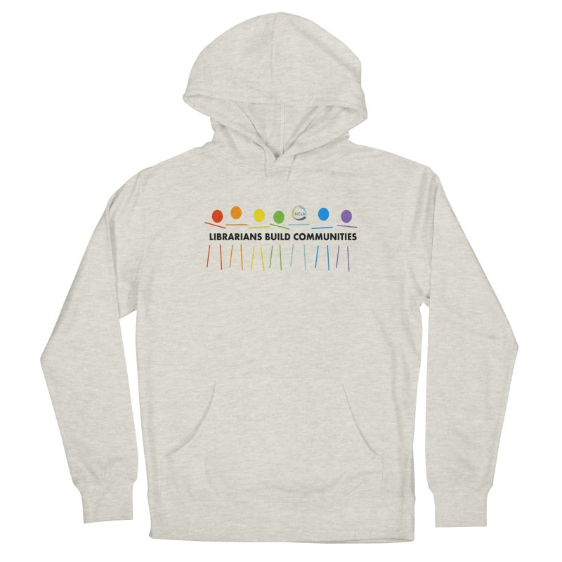 Rainbow Community (Black Text / Light Background) Women's Pullover Hoody by North Carolina Library Association Summer Shop