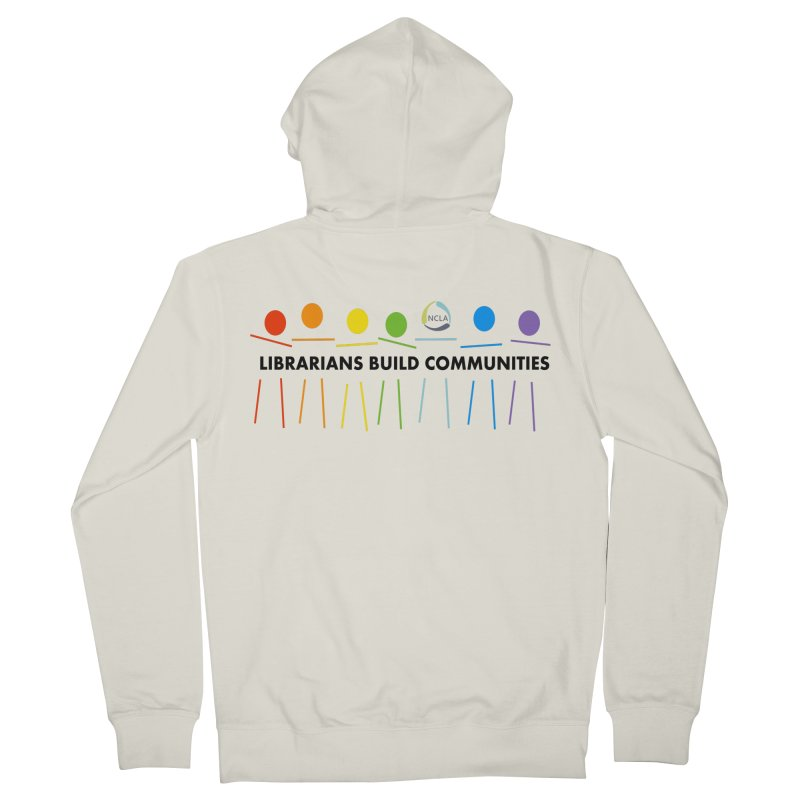Rainbow Community (Black Text / Light Background) Women's Zip-Up Hoody by North Carolina Library Association Summer Shop