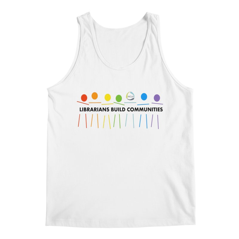 Rainbow Community (Black Text / Light Background) Men's Tank by North Carolina Library Association Summer Shop