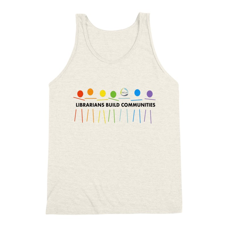 Rainbow Community (Black Text / Light Background) Men's Tank by North Carolina Library Association Summer Shop