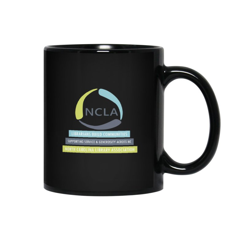 Rainbow Community (White Text / Dark Background) Accessories Mug by North Carolina Library Association Summer Shop