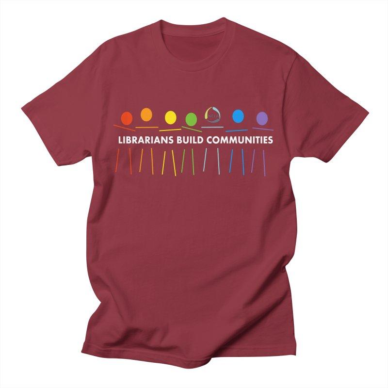 Rainbow Community (White Text / Dark Background) Men's T-Shirt by North Carolina Library Association Summer Shop