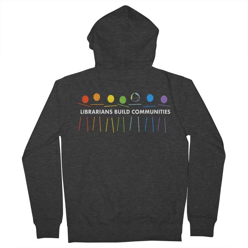 Rainbow Community (White Text / Dark Background) Women's Zip-Up Hoody by North Carolina Library Association Summer Shop