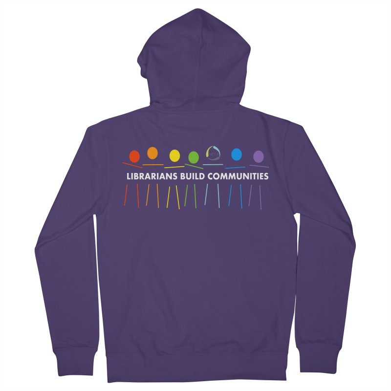 Rainbow Community (White Text / Dark Background) Women's Zip-Up Hoody by North Carolina Library Association Summer Shop