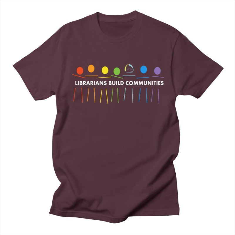 Rainbow Community (White Text / Dark Background) Men's T-Shirt by North Carolina Library Association Summer Shop