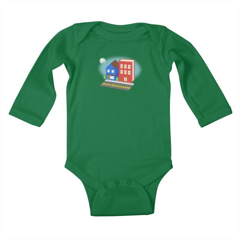 Book City Kids Baby Longsleeve Bodysuit by North Carolina Library Association Summer Shop