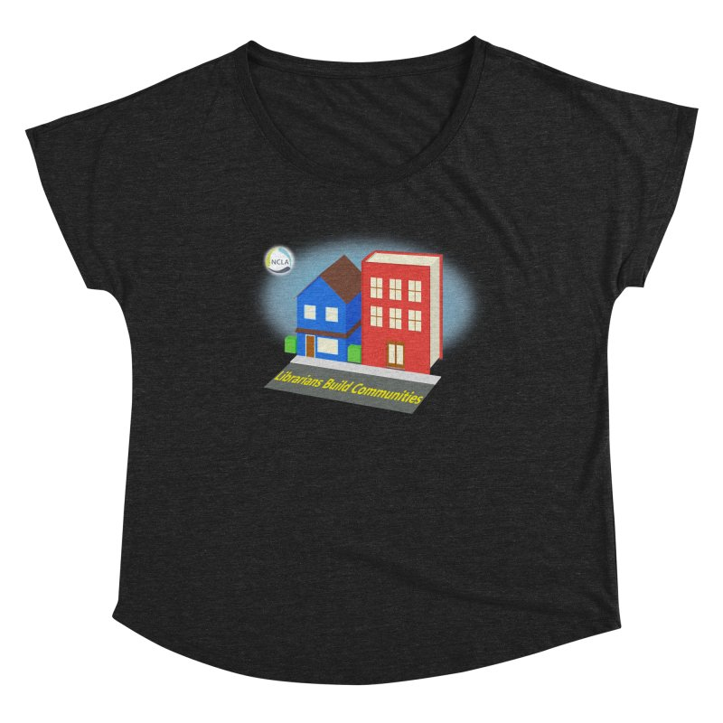 Book City Women's Scoop Neck by North Carolina Library Association Summer Shop