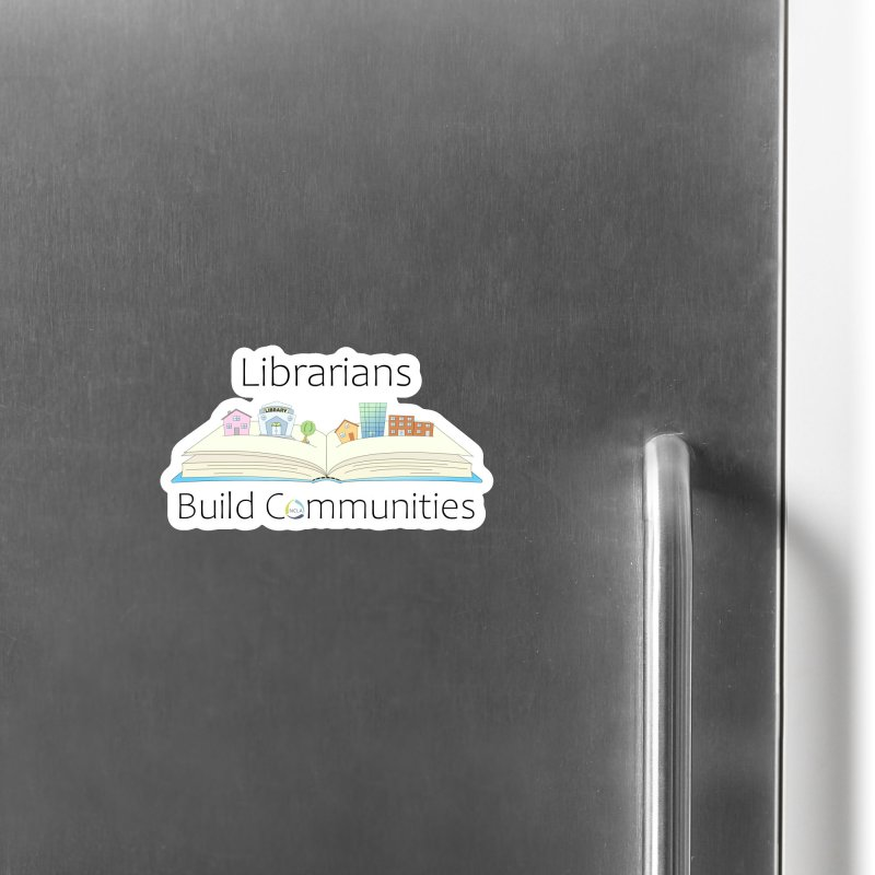 Pop-Up Communities (Black Text / Light Background) Accessories Magnet by North Carolina Library Association Summer Shop