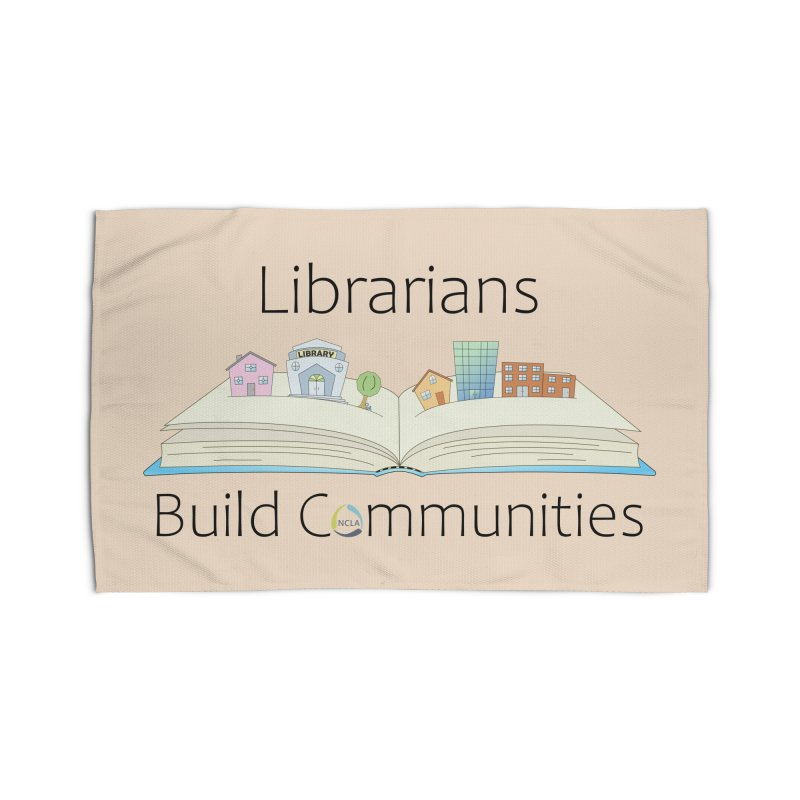 Pop-Up Communities (Black Text / Light Background) Home Rug by North Carolina Library Association Summer Shop