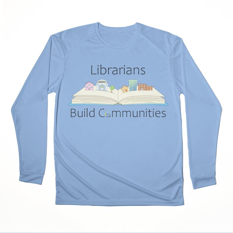 Pop-Up Communities (Black Text / Light Background) Men's Longsleeve T-Shirt by North Carolina Library Association Summer Shop