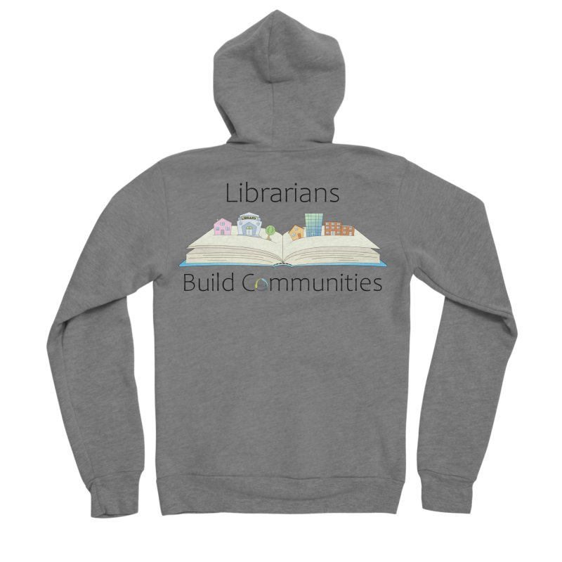 Pop-Up Communities (Black Text / Light Background) Men's Zip-Up Hoody by North Carolina Library Association Summer Shop