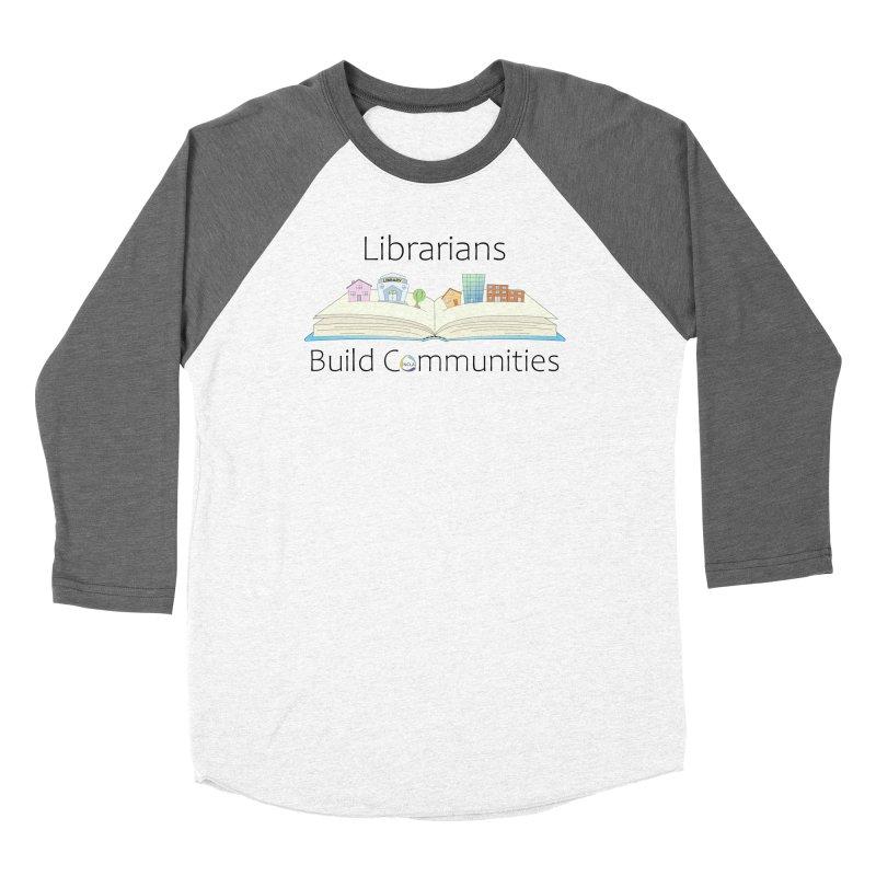 Pop-Up Communities (Black Text / Light Background) Men's Longsleeve T-Shirt by North Carolina Library Association Summer Shop