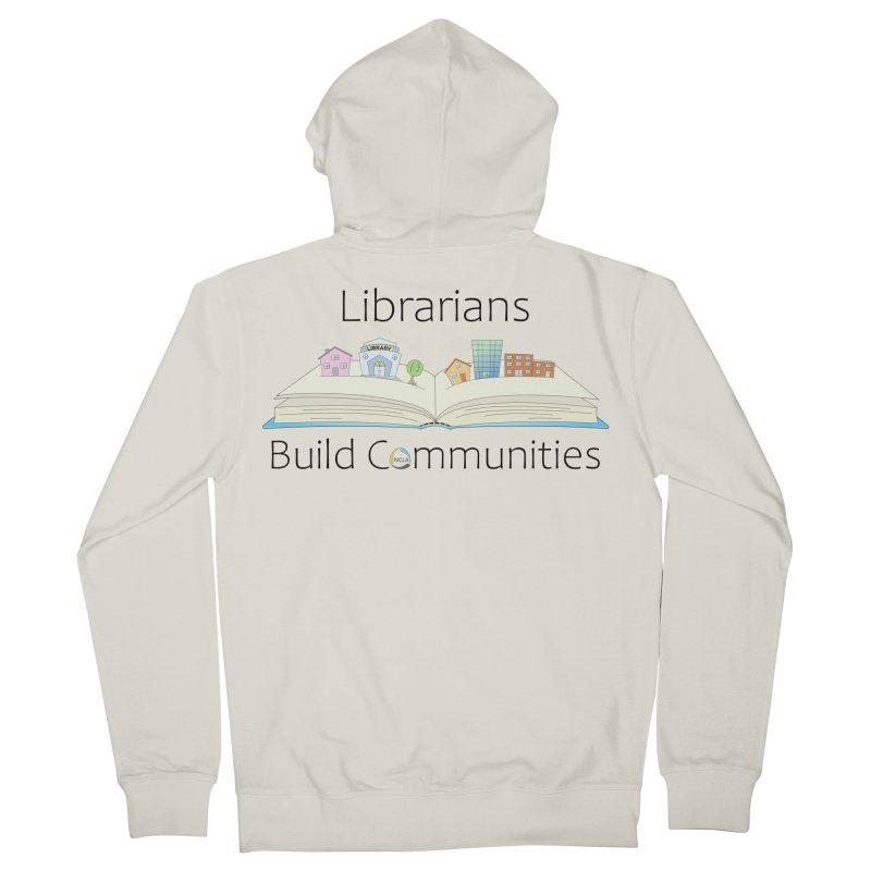 Pop-Up Communities (Black Text / Light Background) Women's Zip-Up Hoody by North Carolina Library Association Summer Shop