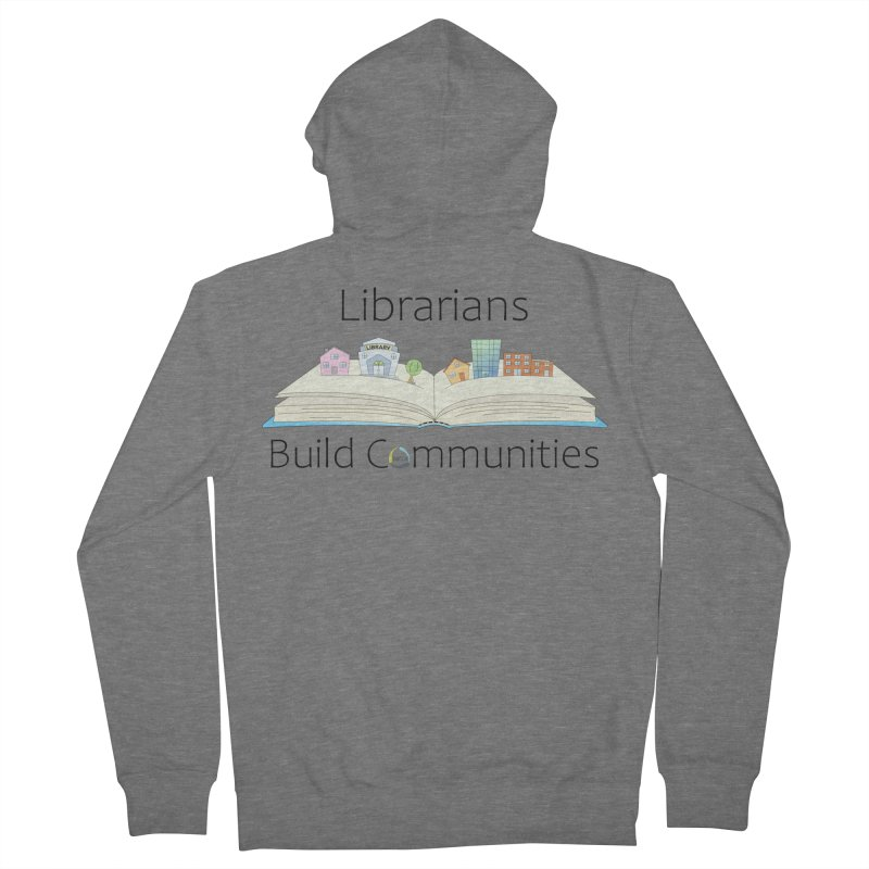 Pop-Up Communities (Black Text / Light Background) Men's Zip-Up Hoody by North Carolina Library Association Summer Shop