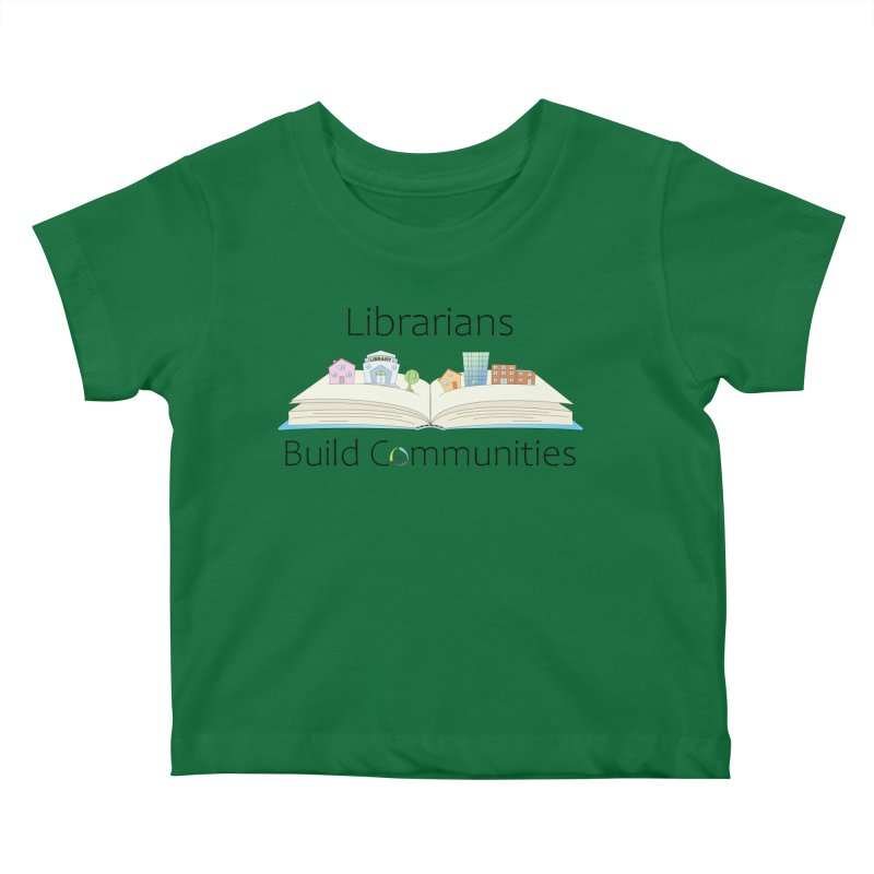 Pop-Up Communities (Black Text / Light Background) Kids Baby T-Shirt by North Carolina Library Association Summer Shop