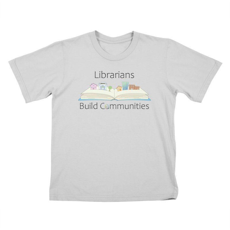 Pop-Up Communities (Black Text / Light Background) Kids T-Shirt by North Carolina Library Association Summer Shop