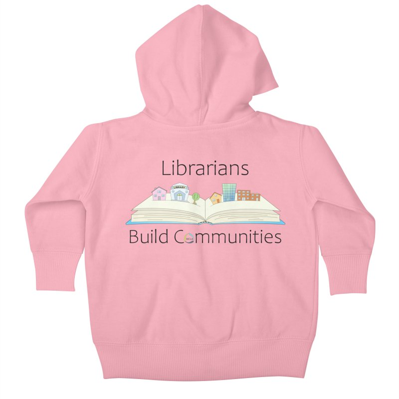 Pop-Up Communities (Black Text / Light Background) Kids Baby Zip-Up Hoody by North Carolina Library Association Summer Shop