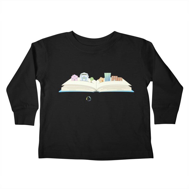 Pop-Up Communities (Black Text / Light Background) Kids Toddler Longsleeve T-Shirt by North Carolina Library Association Summer Shop