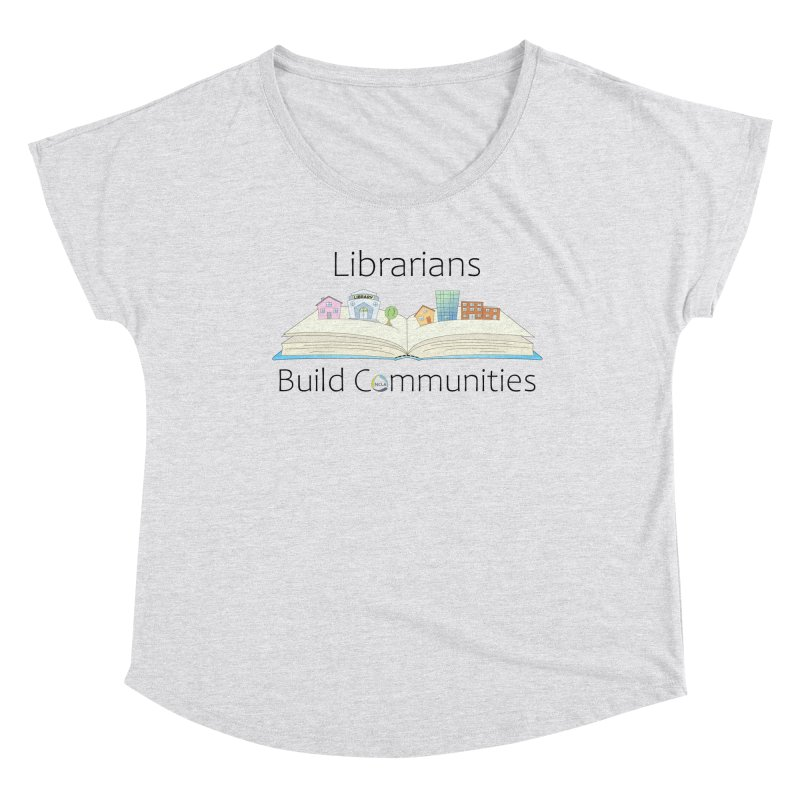 Pop-Up Communities (Black Text / Light Background) Women's Scoop Neck by North Carolina Library Association Summer Shop