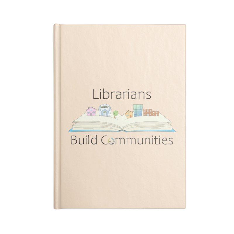 Pop-Up Communities (Black Text / Light Background) Accessories Notebook by North Carolina Library Association Summer Shop