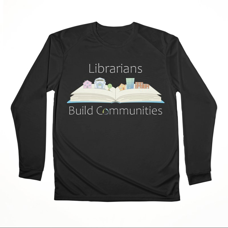 Pop-Up Communities (White Text / Dark Background) Men's Longsleeve T-Shirt by North Carolina Library Association Summer Shop