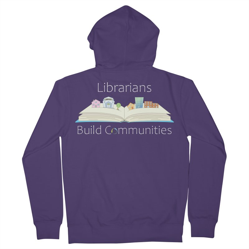 Pop-Up Communities (White Text / Dark Background) Women's Zip-Up Hoody by North Carolina Library Association Summer Shop