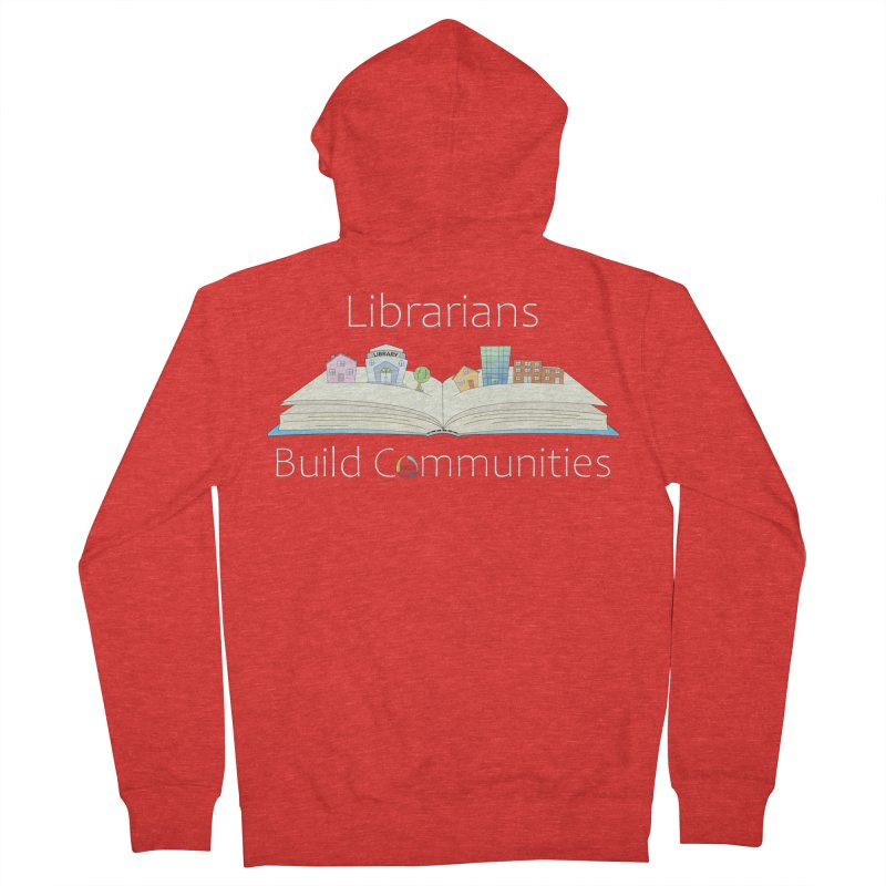 Pop-Up Communities (White Text / Dark Background) Men's Zip-Up Hoody by North Carolina Library Association Summer Shop